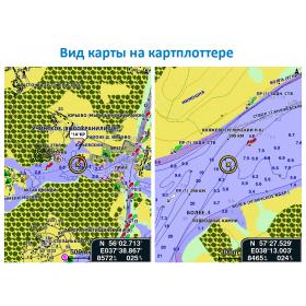 Карта водоемов и рек России